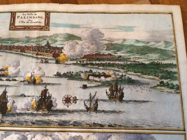 Pieter van der Aa - La Ville de Palimbang dans l 'ile de Sumatra