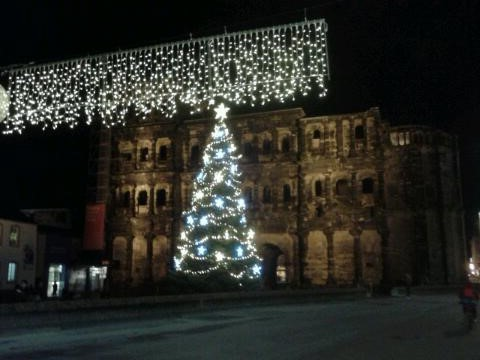 Porta Nigra at Night