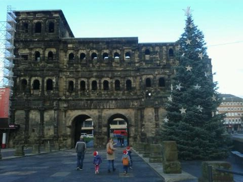 Porta Nigra with Christmas Tree