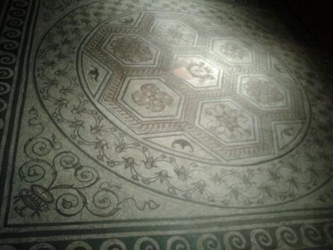 Roman mosaic at the Trier Archaeological Museum