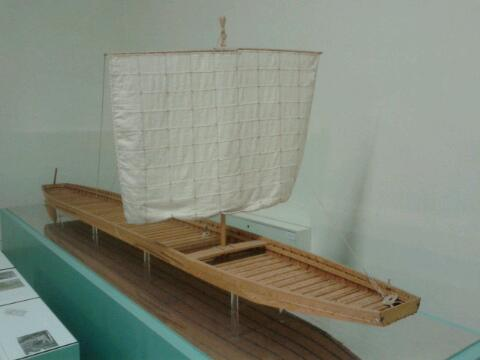 The Museum of Ancient Shipbuilding miniature of ship