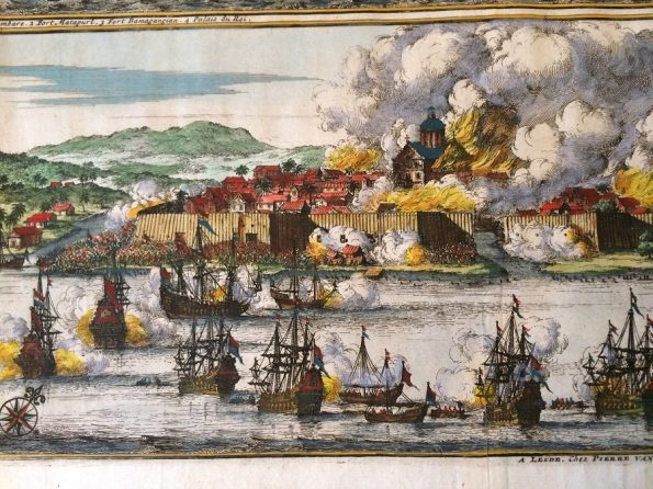 VOC Dutch ships attack Palimbang