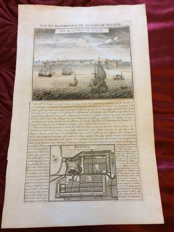 Vue et Description de Surate et de Batavia