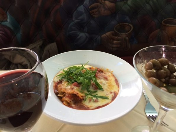 Salieri Red Wine and Lasagna