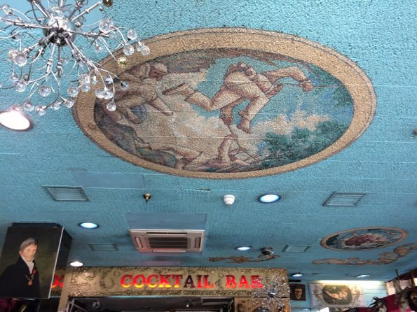 Ceiling at Salieri restaurant