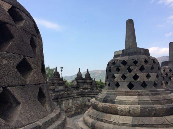 32 and 24 and 16 stupas
