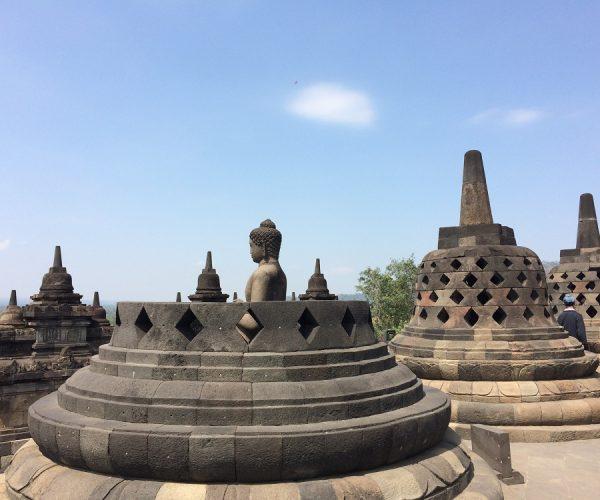 Buddha inside the stupa