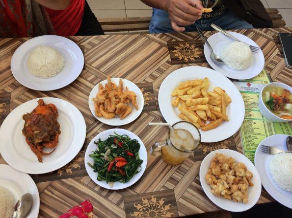 Seafood near Pantai Indrayanti