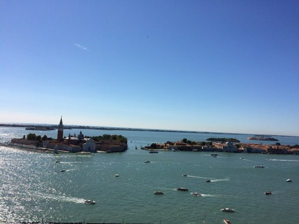 Blue sky and blue water all over Venice