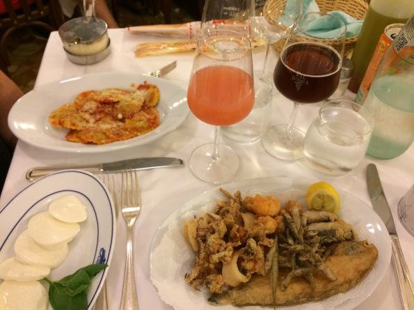 Dinner in Venice - seafood from Adriatic sea