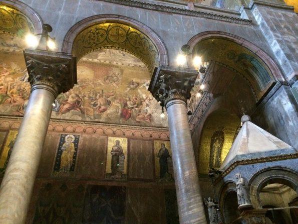 Magnificant Pillars at Basilica di San Marco