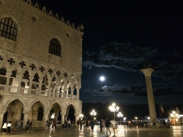 Moon and St Mark Square