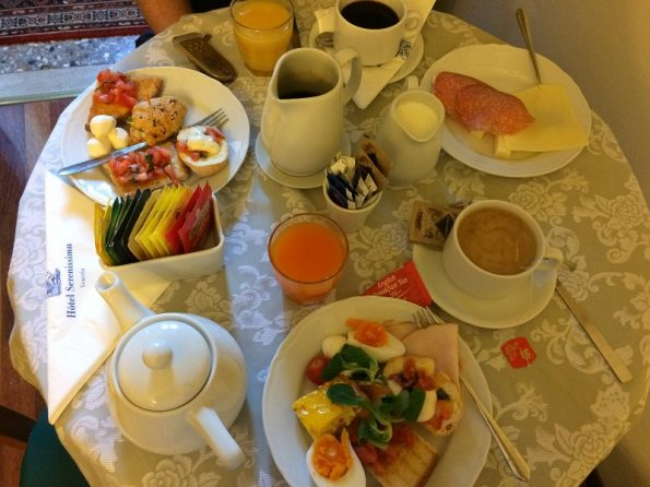 Our Breakfast at Hotel Serenissima