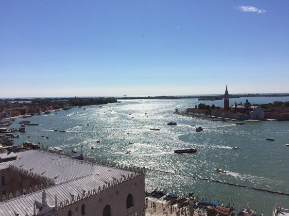Sun shining over the Venetian Lagoon