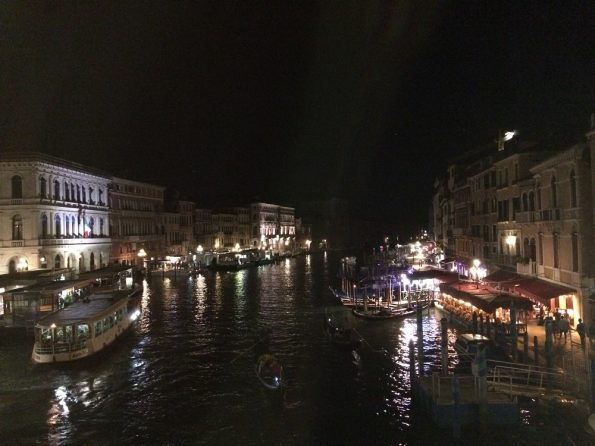 View from Rialto Bridge at Night