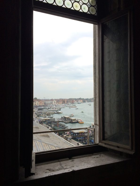 View of Venice harbour from the Duke Palace