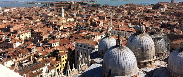 View of the City of Venice from the Bell Tower
