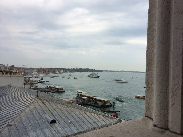 View of venice harbour from the Ducal Palace