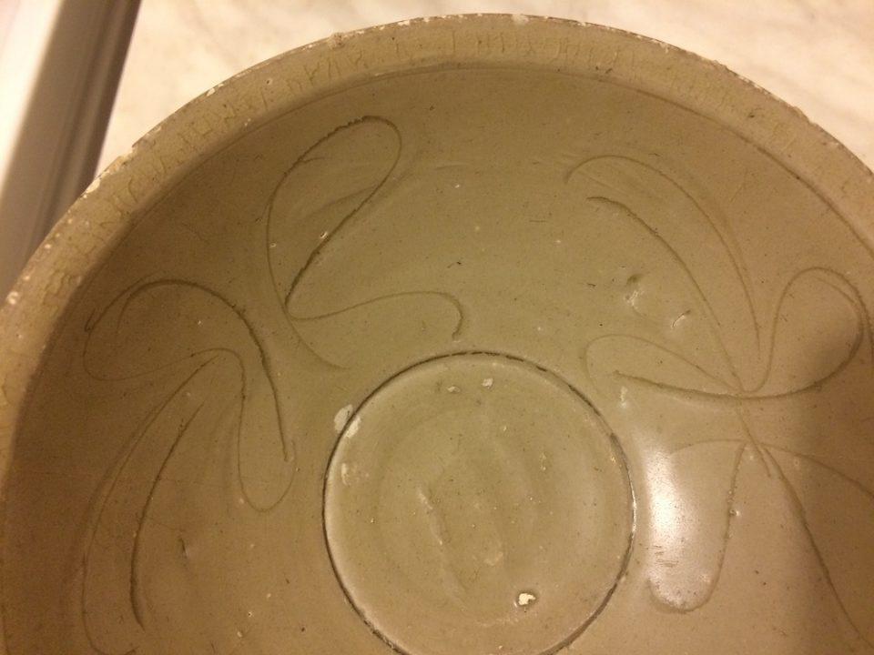 Close up Chinese Bowl Song Dynasty