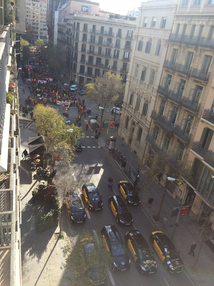 Demonstration Barcelona 2018