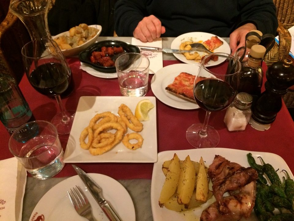 Dinner in Barcelona